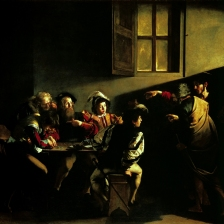 """""""A vocação de Levi"""" (Caravaggio)"""